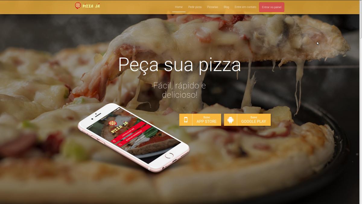 Landing Page para o aplicativo Pizza Já!